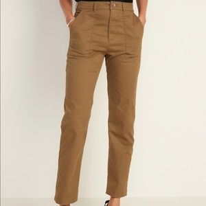 Old Navy High-Waisted Slim Wide-Leg Cropped Chino